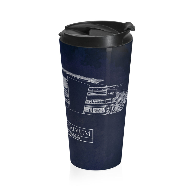 Autzen Stadium Stainless Steel Travel Mug
