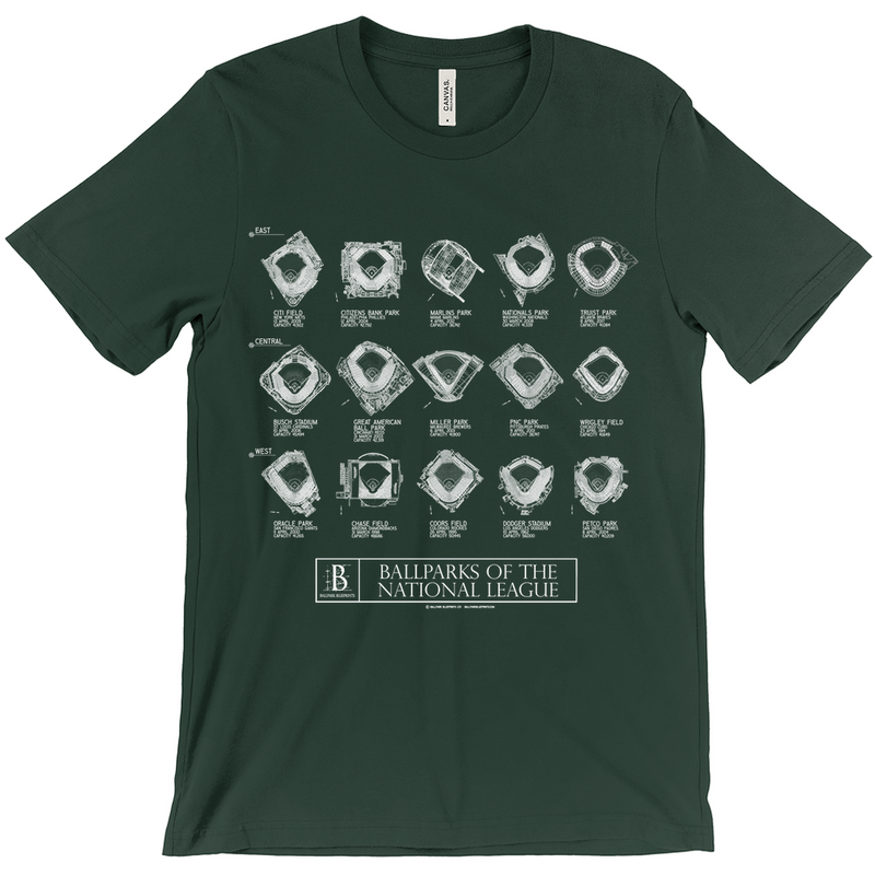 Ballparks of the National League Unisex T-Shirt