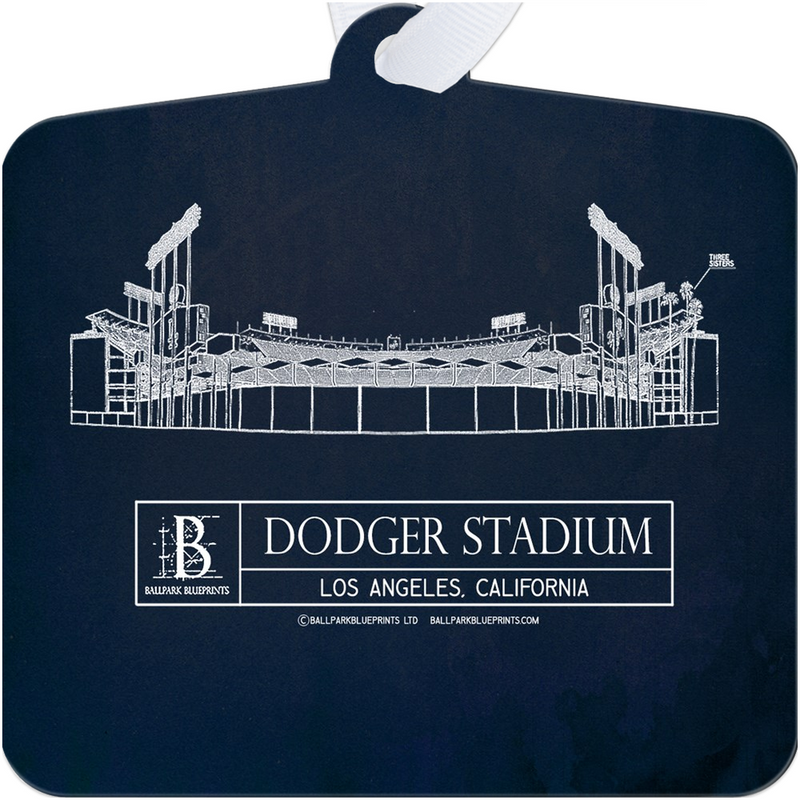 Dodger Stadium Metal Ornament