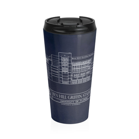 Broncos Stadium at Mile High Stainless Steel Travel Mug