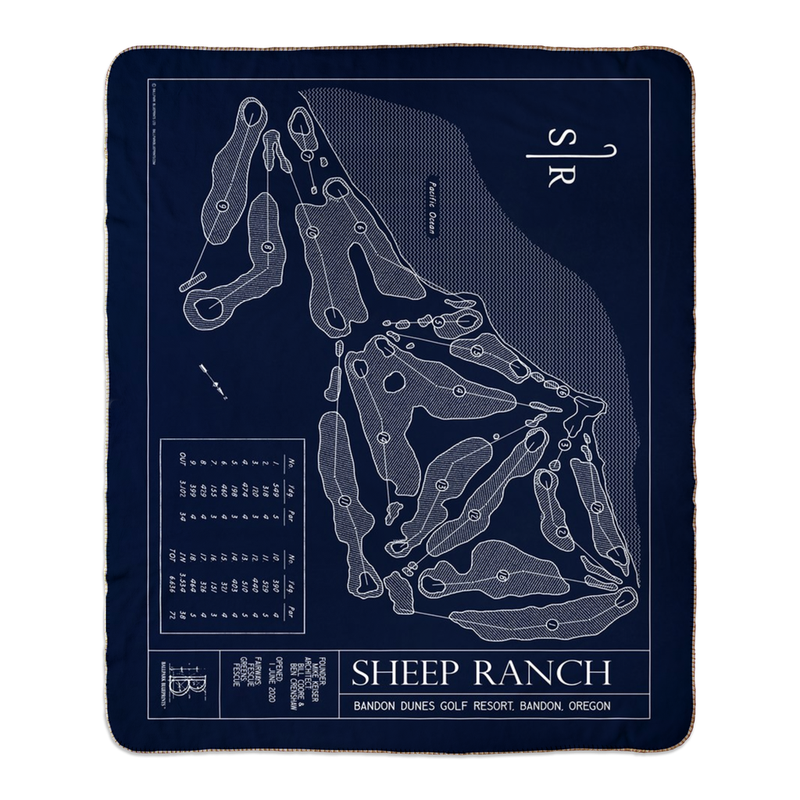Sheep Ranch Golf Course Fleece Sherpa Blanket