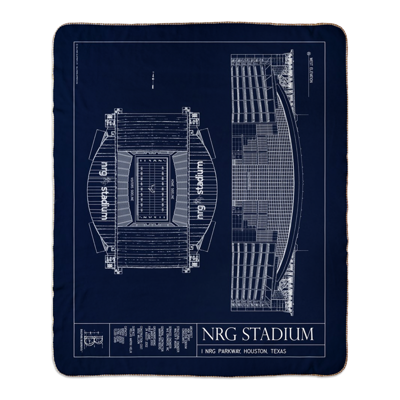 NRG Stadium Fleece Sherpa Blankets