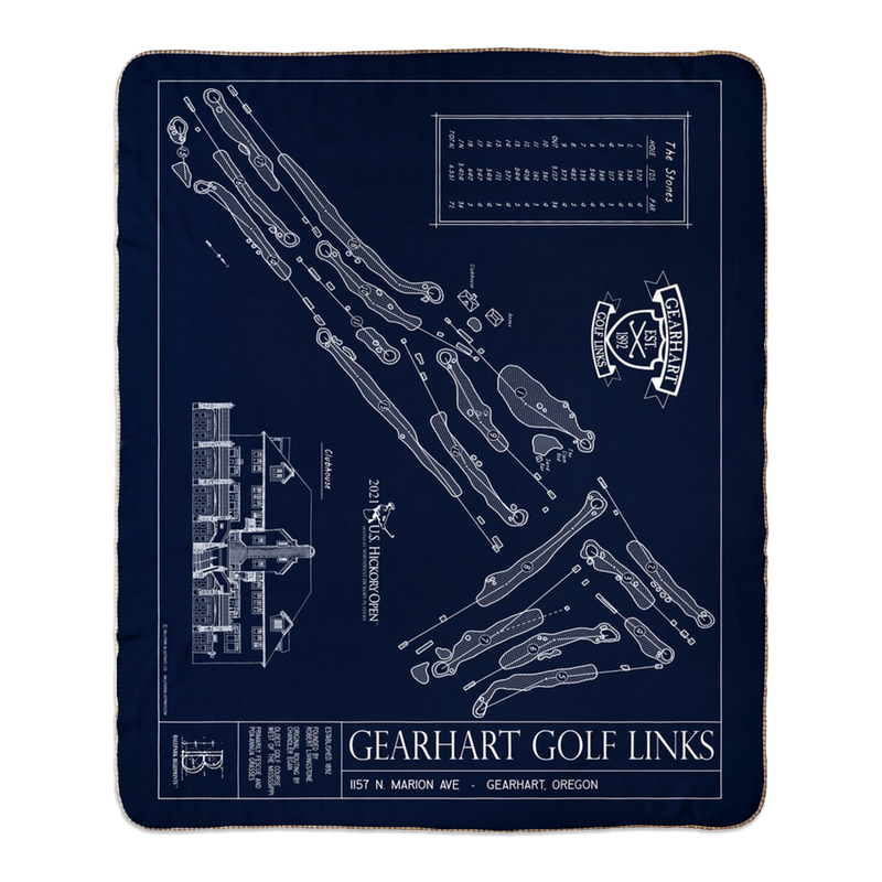 Gearhart Golf Links Fleece Sherpa Blankets