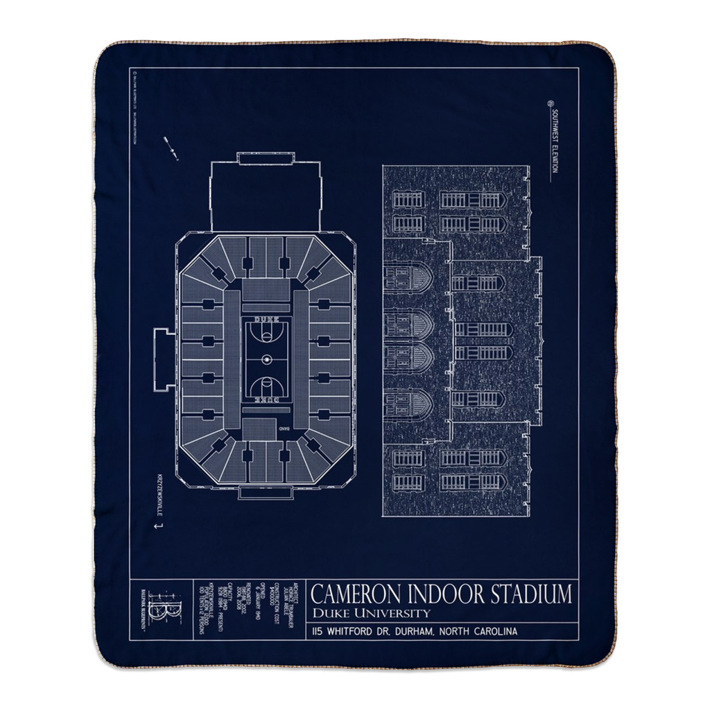 Cameron Indoor Stadium Fleece Sherpa Blankets