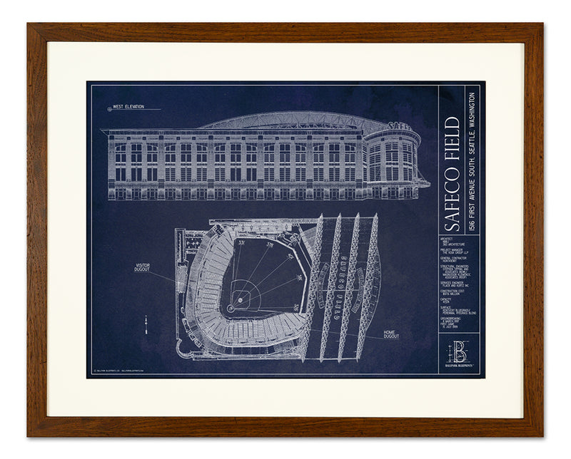 SALE - Petco Park - Small Framed Print (Walnut)