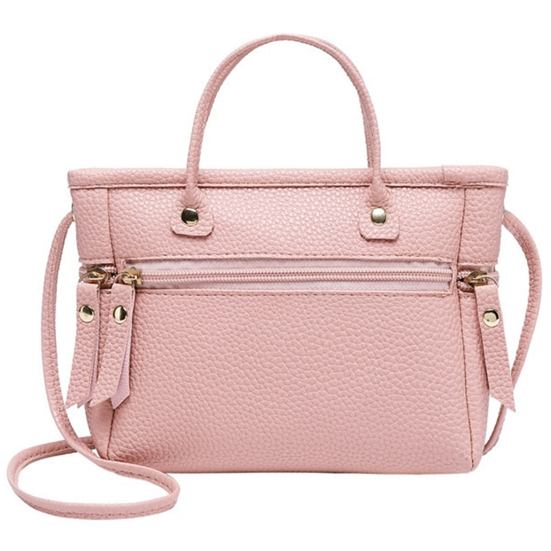 Handbag Fashion New Quality Pu Leather Ladies Bag Contrast Ladies Handbag Shoulder Messenger Bag Messenger