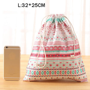 eTya Fashion Portable Drawstring bags Girls Shoes Bags Women Cotton Travel Pouch Storage Clothes handbag High Quality Makeup bag