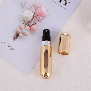 Fashion Mini Refillable Perfume Bottle Canned Air Spray Bottom Pump Perfume Atomization for Travel 5ml Travel needs drop