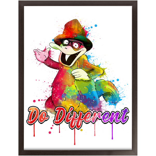 Framed Platypus Print - Do Different