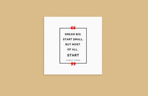 """Dream Big"" Blank Note Cards"