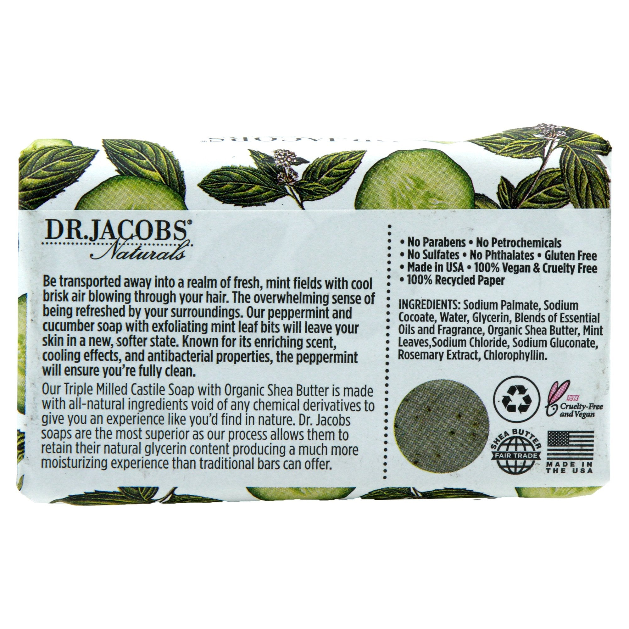 Minty Cucumber Mojito Bar Soap by Dr. Jacobs Naturals