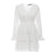 Uber Stopper Hollow Out Cotton Embroidery Ruffled Dress - White