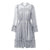 Wendy's Sexy Hollow Out Fashion Dress - Grey