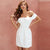 Keep It Secret Off Shoulder Short Dress - White