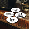 4 Coasters BOXING - carico-shop