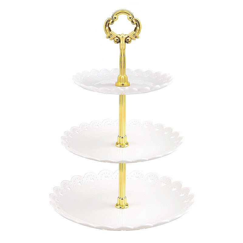 3-Tier Cupcake Stand Plastic Dessert Tower Serving Tray for Birthday Wedding Baby Shower Party
