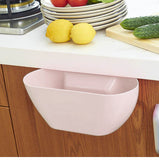 Creative Plastic Wastebaskets, Multifuctional Hanging Trash Can Waste Bins Deskside Recycling Garbage Container Pack of 2