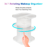 360 Spinning makeup organizer cosmetic storage display rack