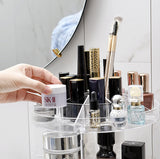 360 Makeup Organizer DIY Adjustable Make up Carousel Spinning Holder Ondisplay Rack Large Capacity Round Bathroom Storage Tower Cosmetics Caddy Shelf Box