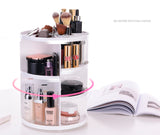 Wholesale black 360 spinning rotating makeup stand organizer cosmetic storage display rack