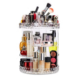 Plus Size 360-Degree Rotating Makeup Organizer Adjustable Multi-Function Makeup Storage Large Capacity Cosmetic Storage Unit Fits Different Types of Cosmetics and Accessories