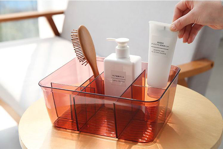 Clear Plastic Organizer Acrylic Cosmetics Makeup Organizer Storage Case Palette Holder Display