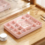 Plastic Jewelry Box Organizer Storage Container with Adjustable Dividers 19 Grids with Lid