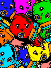 Load image into Gallery viewer, BabyMafia Crowd Print