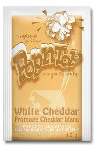 POP N TOP POPCORN SEASONING WHITE CHEDDAR (24/15G)