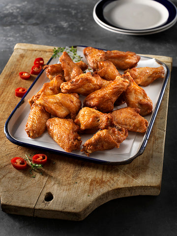 CHICKEN WINGS SPICY HOT CKD -MAPLE LEAF