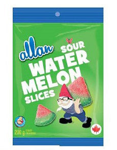 ALLAN SOUR WATERMELON SLICES PEG CANDY (12/200G)