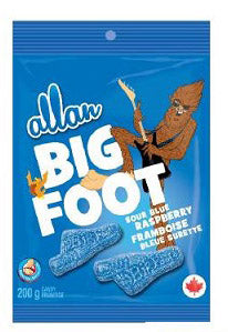 ALLAN BIG FOOT SOUR BLUE PEG CANDY (12/200G)