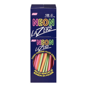 REGAL NEON LAZERS STRAWS NOVELTY (1/120CT)