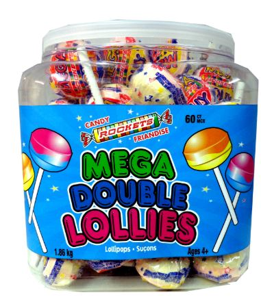 REGAL DOUBLE LOLLIES MEGA JAR NOVELTY (1/60CT)