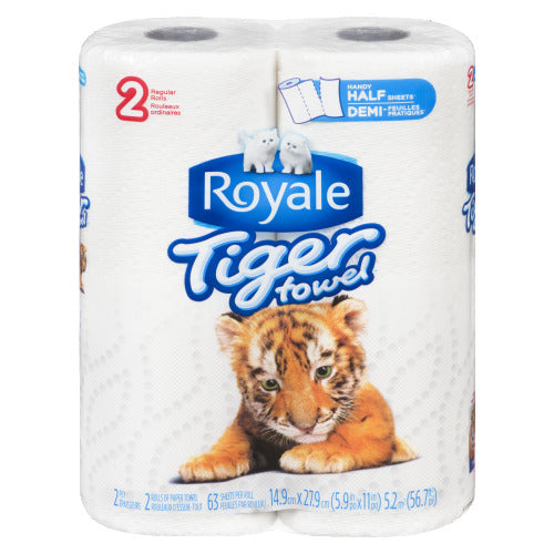 TOWELS PAPER 2PLY/2ROLL - ROYALE (12/2CT)