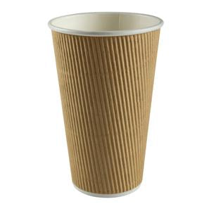 CUP HOT KRAFT RIPPLE 16OZ NATURE 1000CT