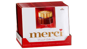 MERCI ASSORTED BOXED CHOCOLATES TRAY 18CT