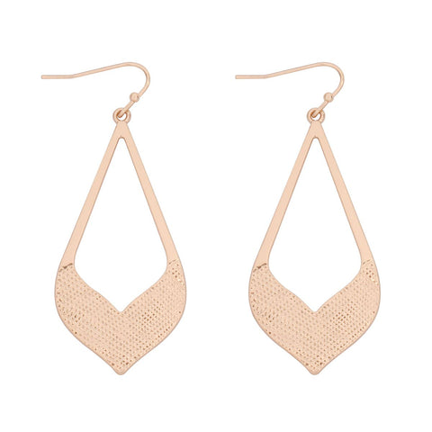 Cast Arrow Drop Earrings