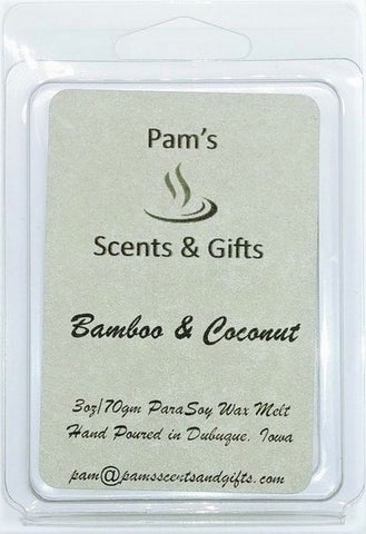 Bamboo & Coconut Wax Melts - Pam's Scents and Gifts