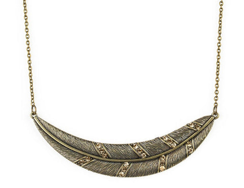 Brass Quill Necklace - Pam's Scents and Gifts