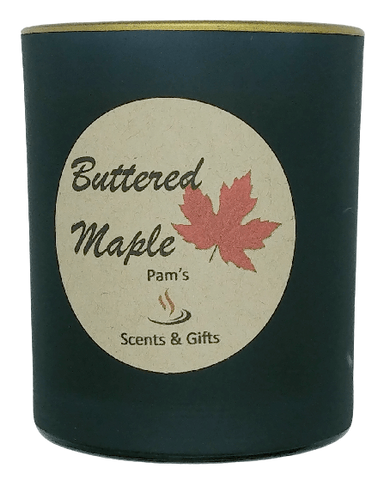 Buttered Maple Black Glass Candle
