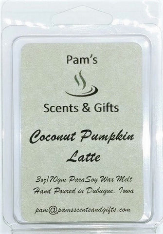 Coconut Pumpkin Latte Wax Melts - Pam's Scents and Gifts
