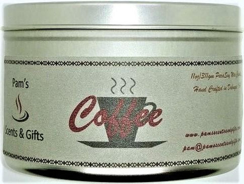 Coffee Tin Candle - Pam's Scents and Gifts