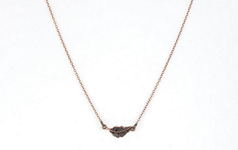 Copper Feather Necklace - Pam's Scents and Gifts