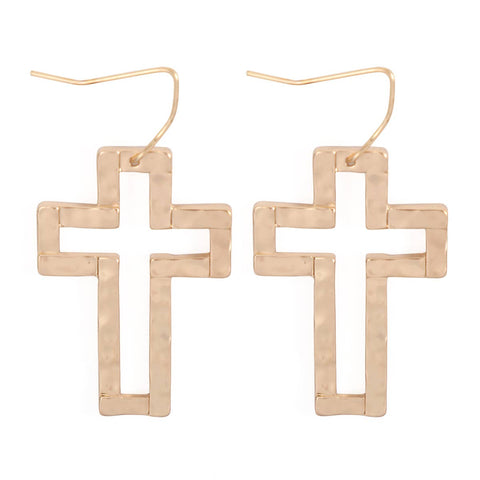Cast Cross Earrings