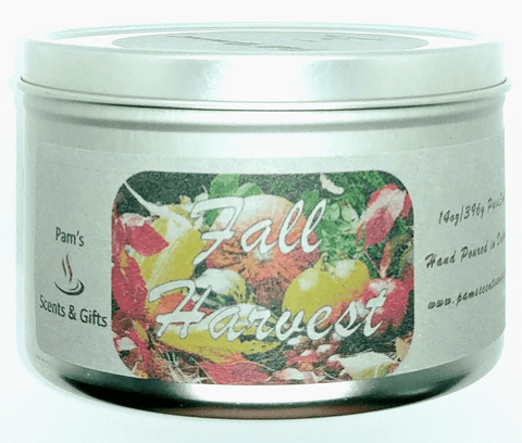 Fall Harvest Tin Candle - Pam's Scents and Gifts