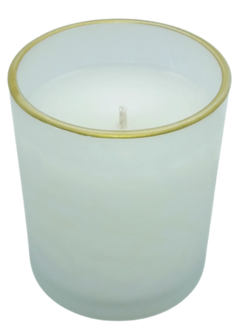 Holiday Comfort Frosted Glass Candle