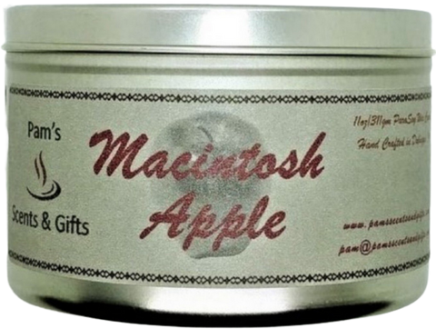 Macintosh Apple Tin Candle