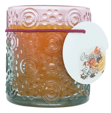 Orange Spice Glass Candle