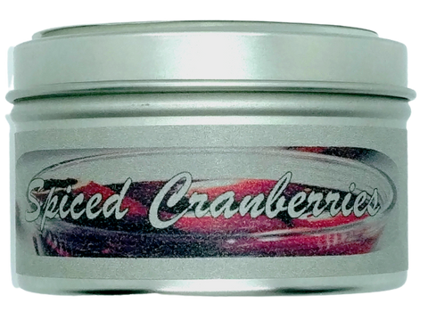 Spiced Cranberries Tin Candles 6oz